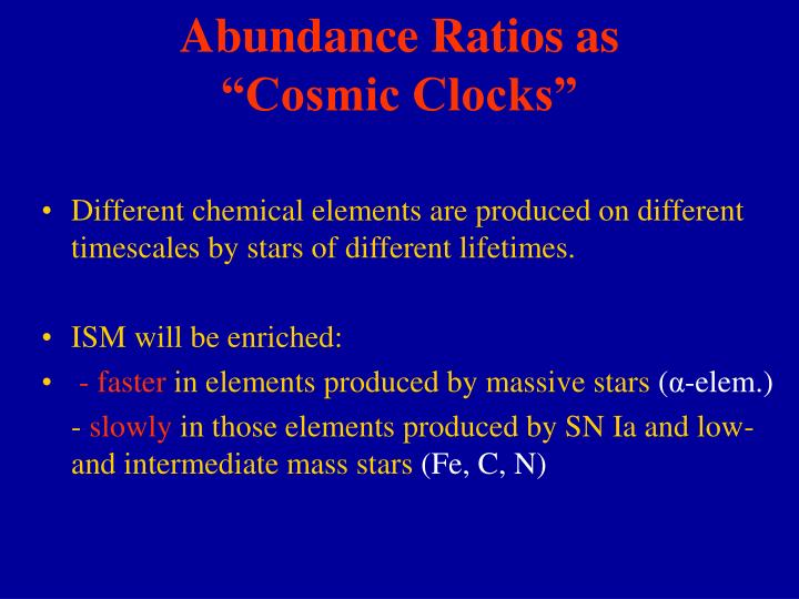 Abundance Ratios as