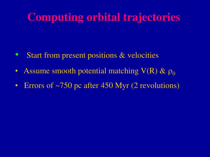 Computing orbital trajectories