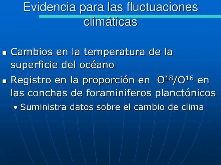 Evidencia para las fluctuaciones climáticas