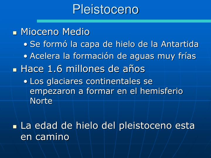 Pleistoceno