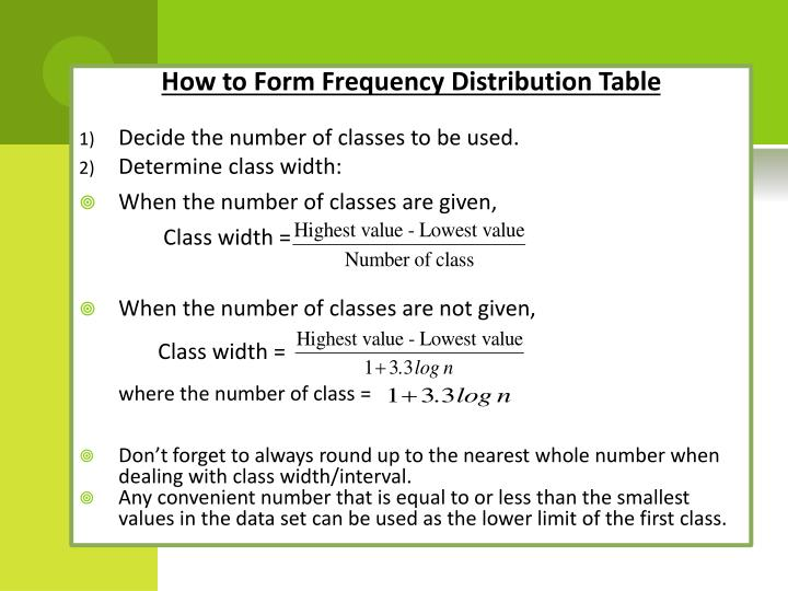 How to Form Frequency Distribution Table