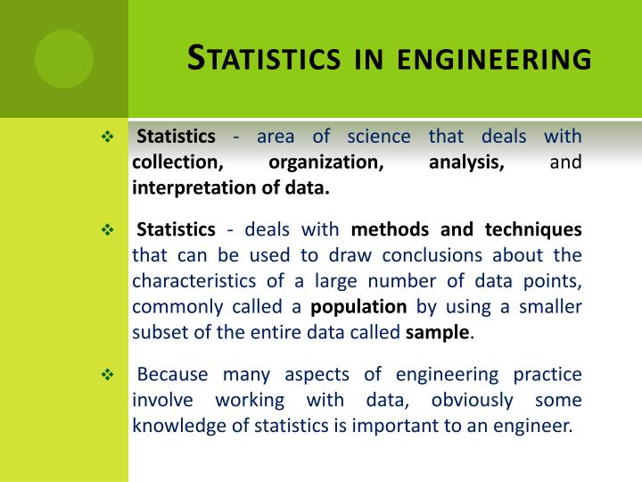 Statistics in engineering