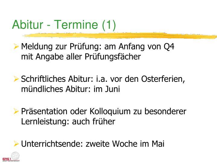 Abitur - Termine (1)