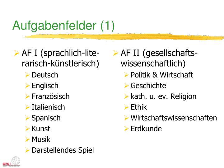 AF I (sprachlich-lite-rarisch-künstlerisch)