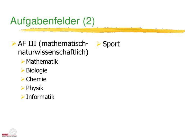 AF III (mathematisch-naturwissenschaftlich)