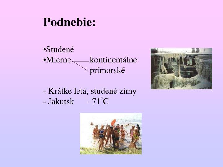 Podnebie: