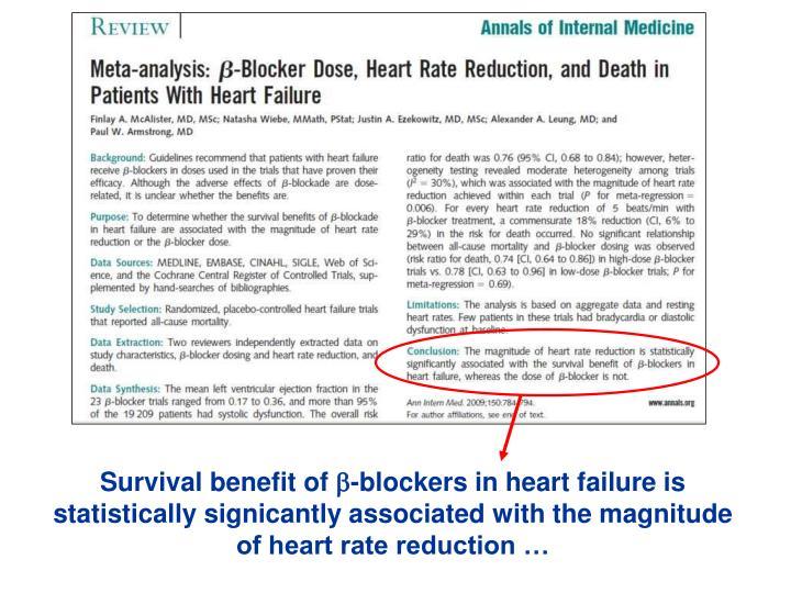 Survival benefit of