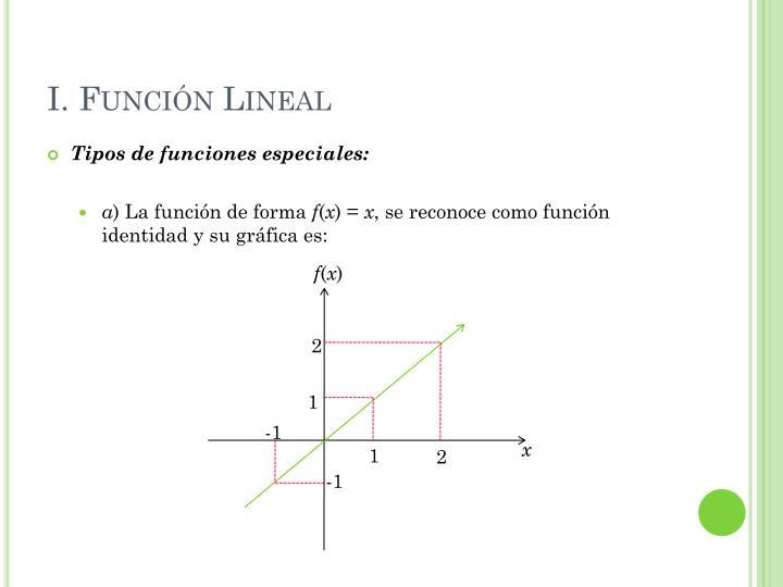 I. Función Lineal