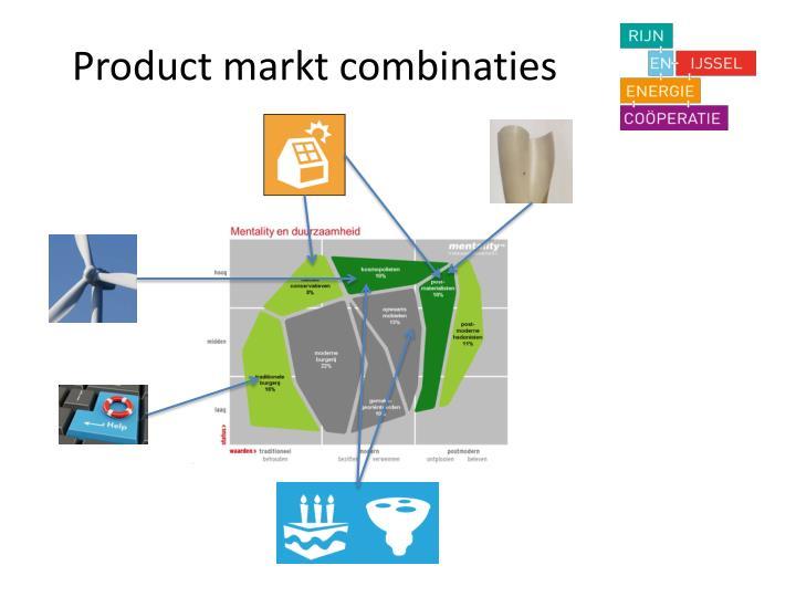 Product markt combinaties