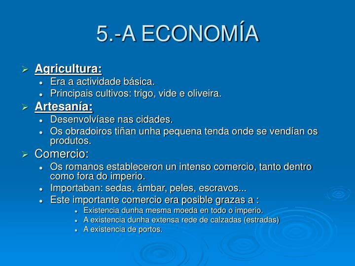 5.-A ECONOMÍA