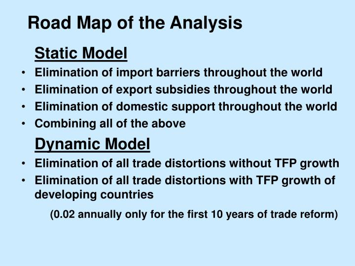 Road Map of the Analysis