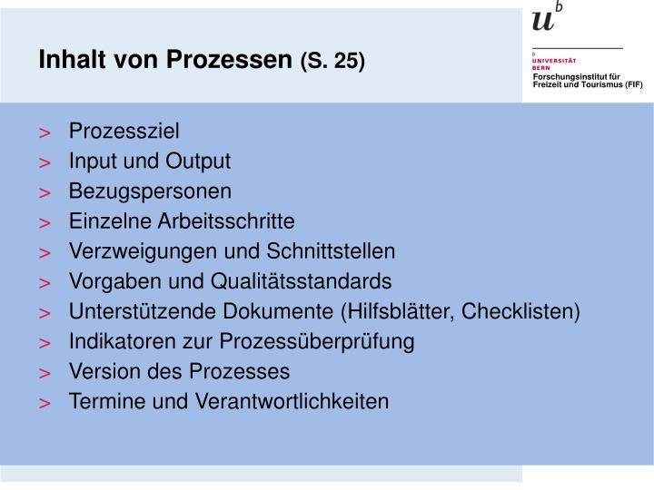 Inhalt von Prozessen