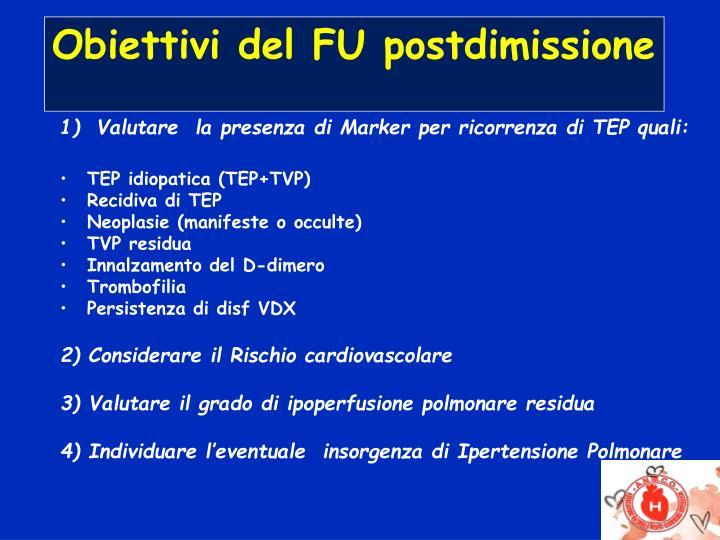 PPT - Metodologia del follow up dopo Embolia Polmonare A..