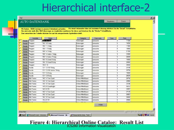 Hierarchical interface-2
