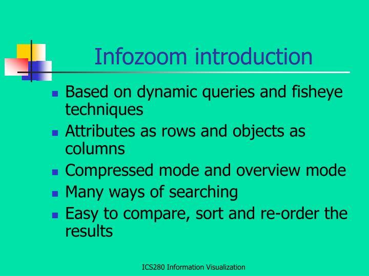 Infozoom introduction