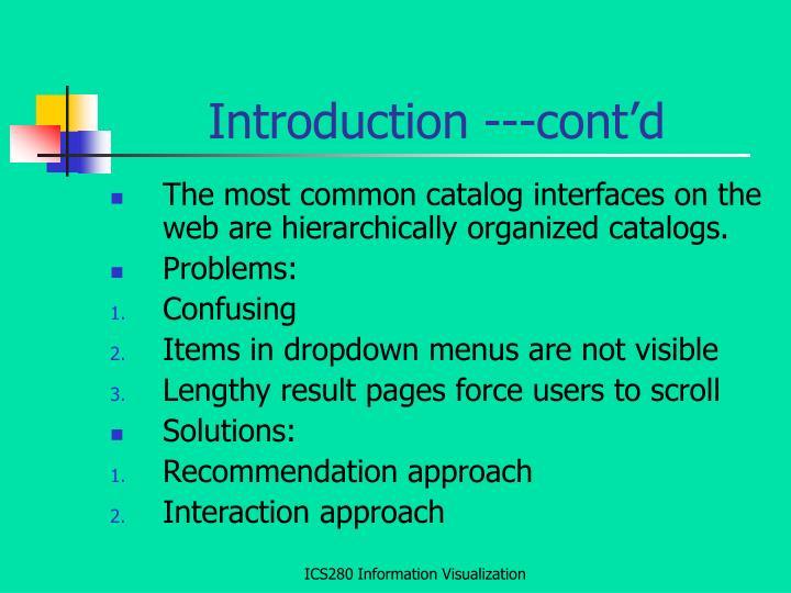 Introduction ---cont'd