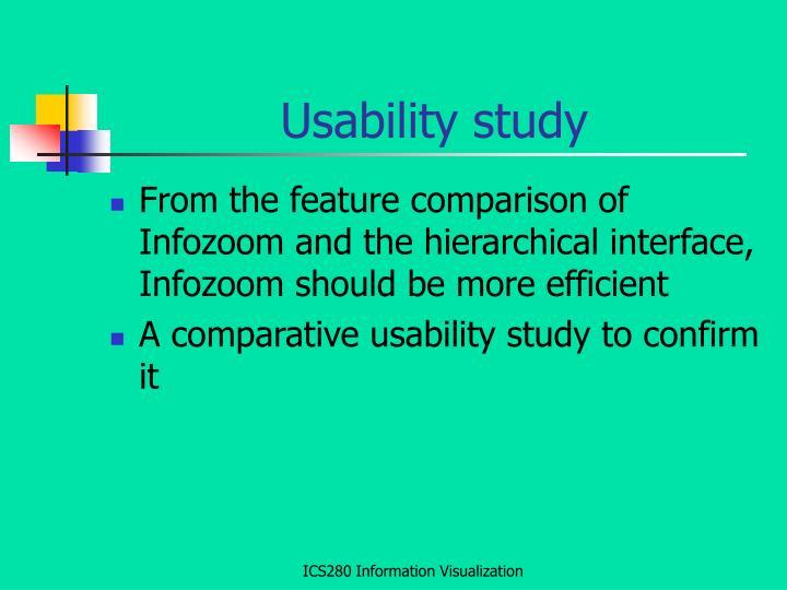 Usability study