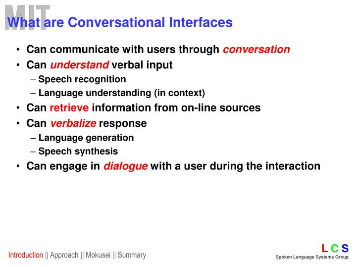 What are Conversational Interfaces