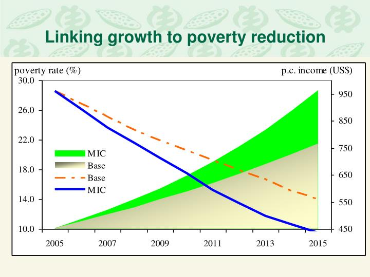 Linking growth to poverty reduction