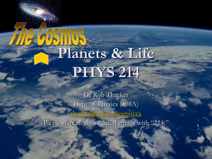 Planets life phys 214