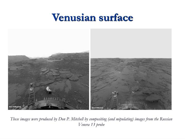 Venusian surface