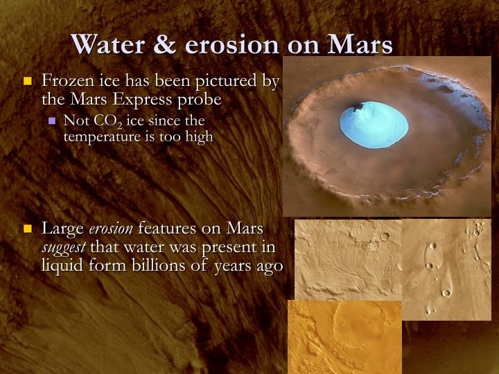 Water & erosion on Mars