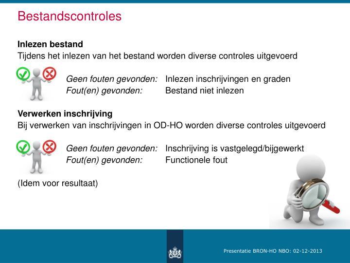 Bestandscontroles