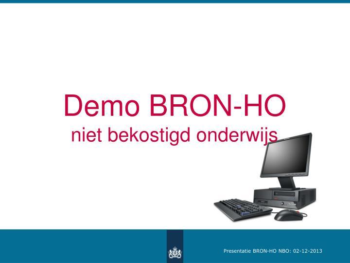 Demo BRON-HO