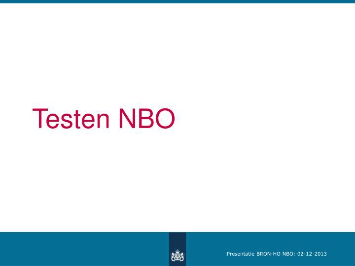 Testen NBO