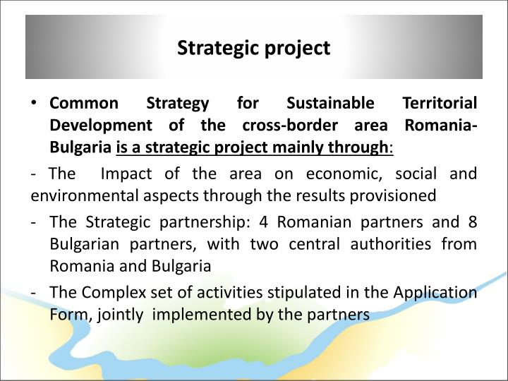 Strategic project