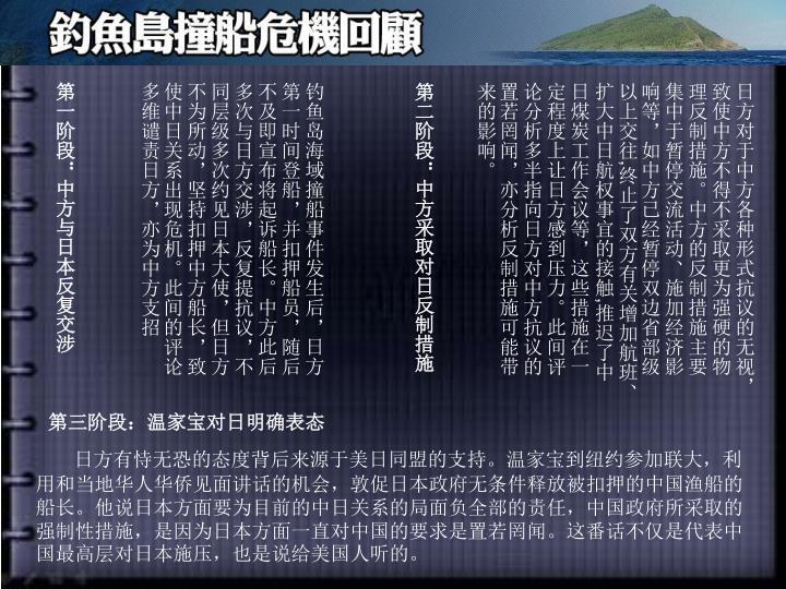 第一阶段:中方与日本反复交涉