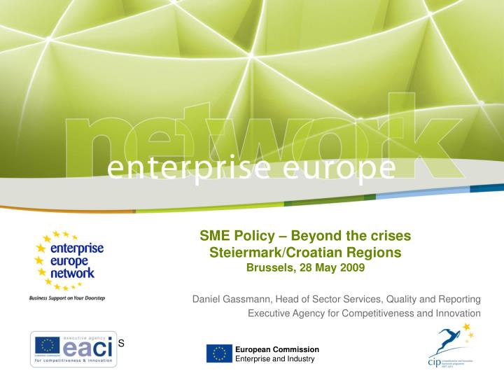 SME Policy – Beyond the crises