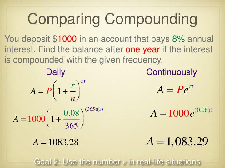 Comparing Compounding