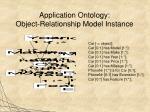 application ontology object relationship model instance