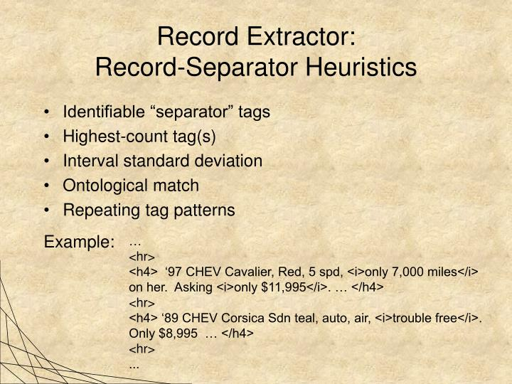 Record Extractor: