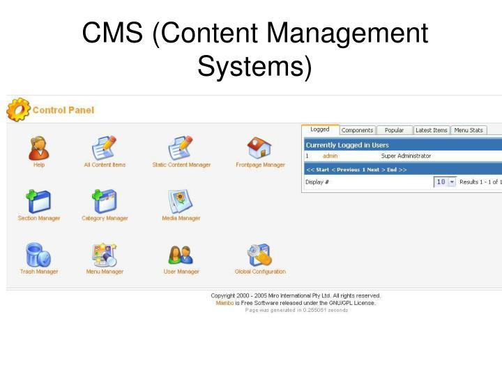 CMS (Content Management Systems)