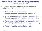 practical deflection routing algorithm solution clumping a pop