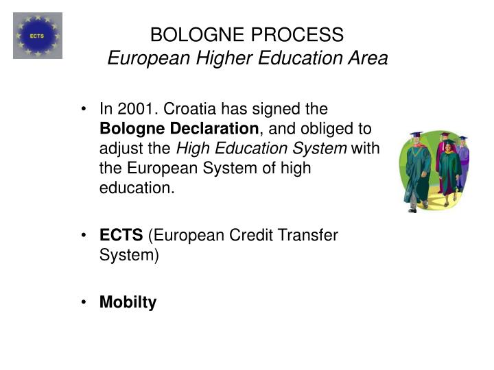 Bologne process european higher education area