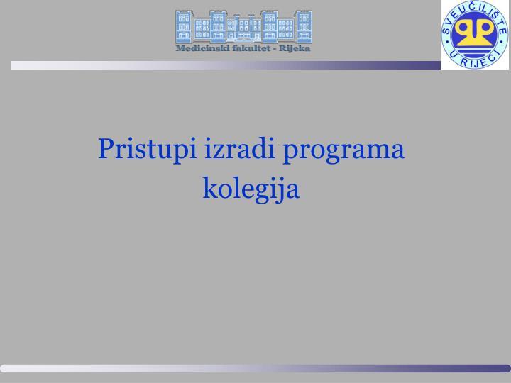 Pristupi izradi programa