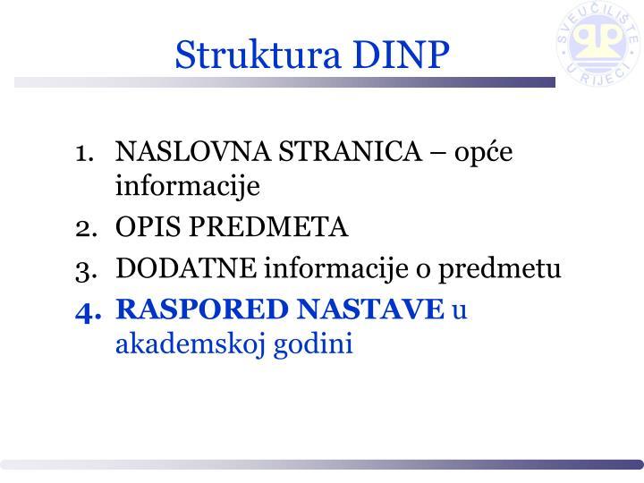 Struktura DINP