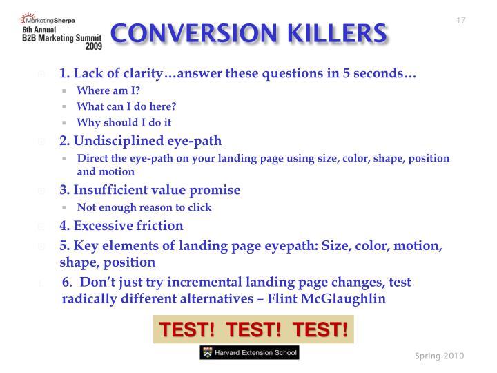 CONVERSION KILLERS