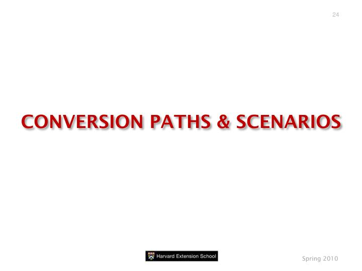 CONVERSION PATHS & SCENARIOS