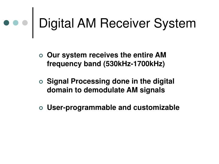 Digital am receiver system1