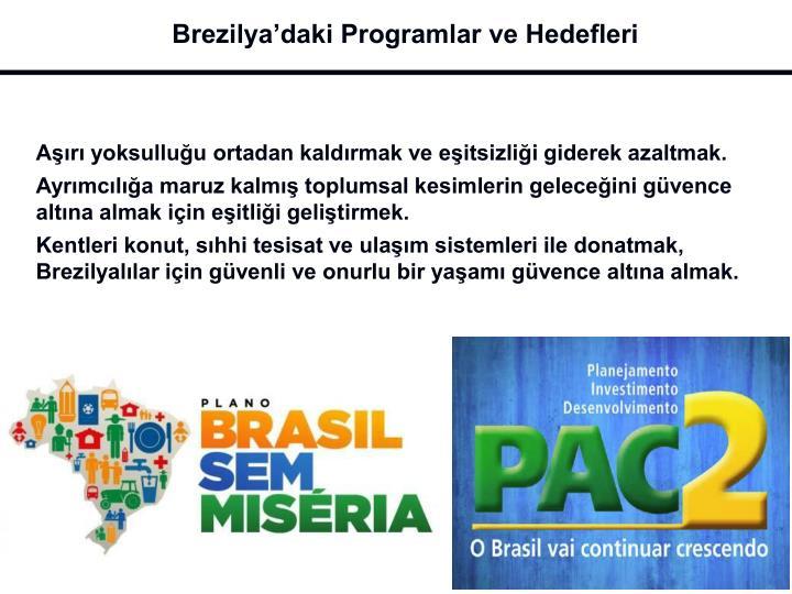 Brezilya'daki Programlar ve Hedefleri