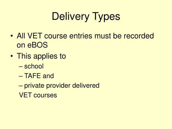 Delivery Types