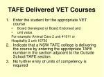 tafe delivered vet courses