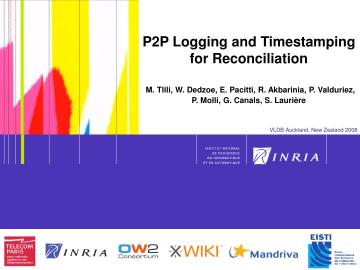 P2P Logging and Timestamping for Reconciliation
