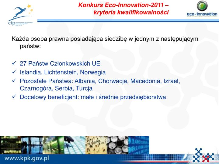 Konkurs Eco-Innovation-2011 –