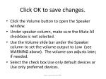 click ok to save changes