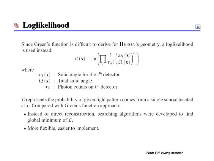 From Y.H. Huang seminar